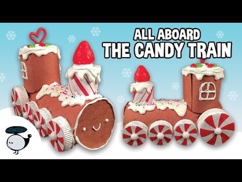 HOW TO: EASY KAWAII GINGERBREAD CANDY TRAIN ORNAMENT