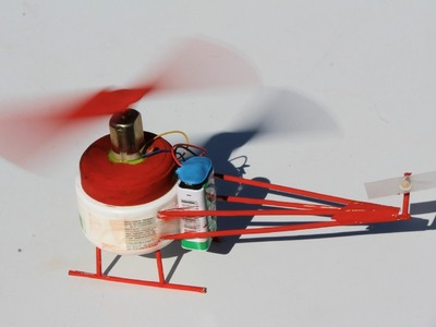 How to make a Helicopter - DC Motor Electric Helicopter - EASY!!