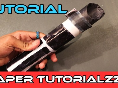 How To Make a Paper Lightsaber Hilt  (Tutorial)