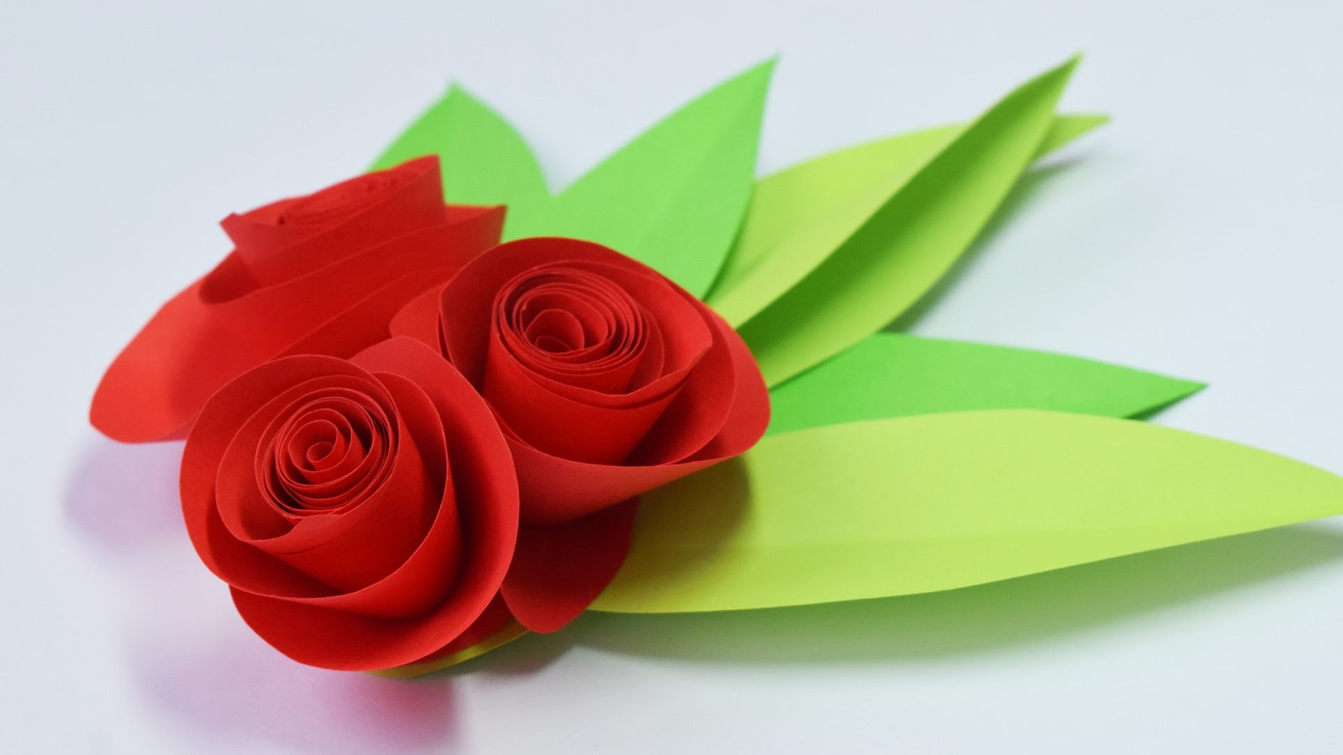 How to make a Simple ROSE of paper. Gifts with their own hands