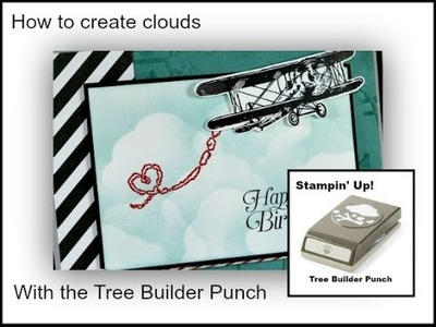 How to make a sponged cloud background for the Sky is the Limit Stamp Set