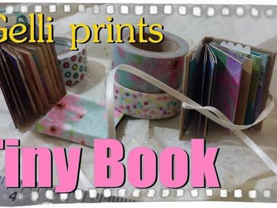 How to make a Tiny Book. Gelli plate (r) prints to make a miniature book