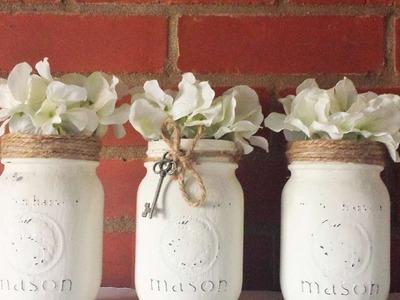 How To Make Beautiful Rustic Mason Jars - DIY Crafts Tutorial - Guidecentral