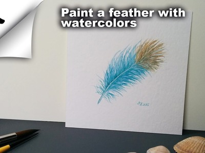 How To Paint A Feather With Watercolors [Speedpainting]