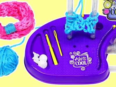 Knit's Cool Deluxe Knitting Studio Playset DIY Fun & Easy How to Knit a Headband!