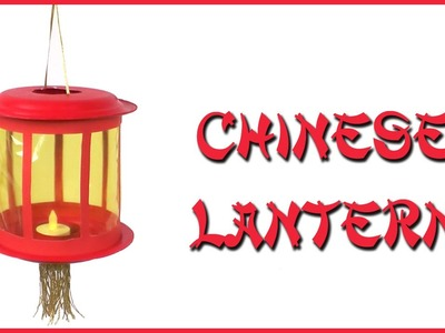 Make a Chinese Lantern with paper plates