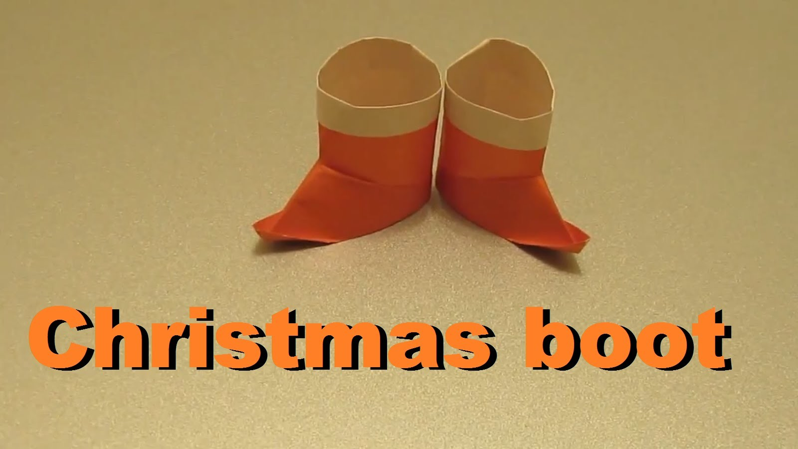 Origami boot. How to make a paper Christmas boot