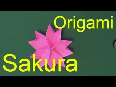 Origami flower easy Sakura - Paper flower making