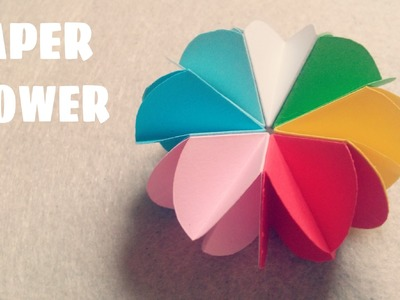 Origami for Kids - Easy Paper Flower Tutorial