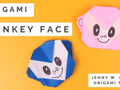 Paper Crafts - Origami Monkey Tutorial for Kids, Teachers, Classrooms