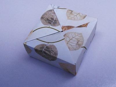 Paper Gift Box   Origami Video Tutorial   HandiWorks #19