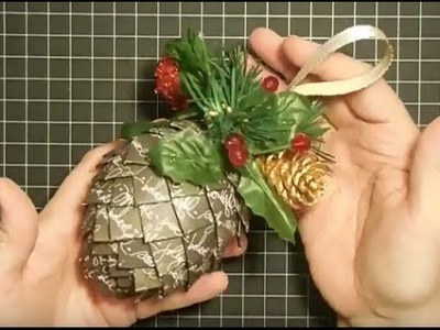 Paper Pinecone Christmas Tree Ornament Collab