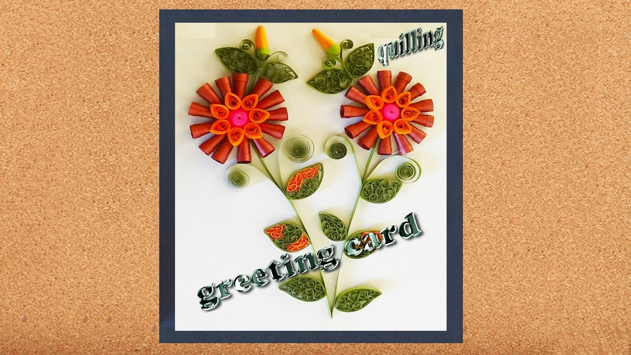 Paper Quilling : Happy New Year in 2016 greeting cards