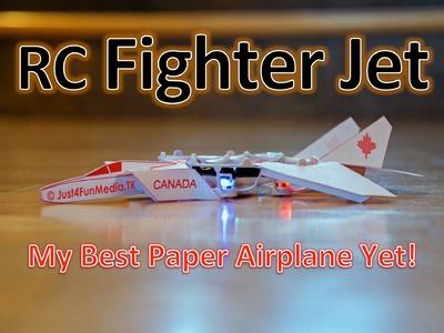 RC Paper Fighter Jet - TOP GUN Tribute - Cheerson CX-10