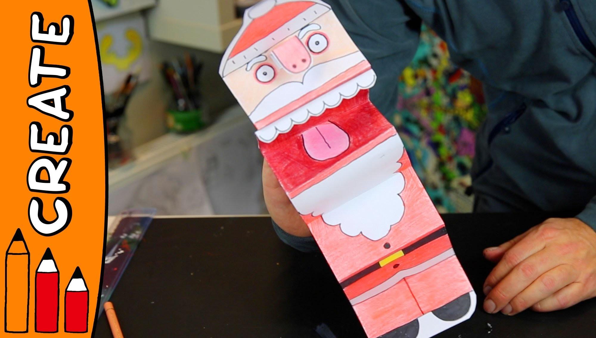 Santa Hand Puppet   Christmas DIY Craft Ideas With Øistein