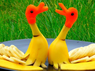 Step By Step: How It's Made Banana Rubber Ducks | Banana Art | Fruit Carving Banana Decoration