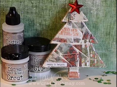 Tim Holtz Distress Paper Mosaic Kit: Christmas Ornament