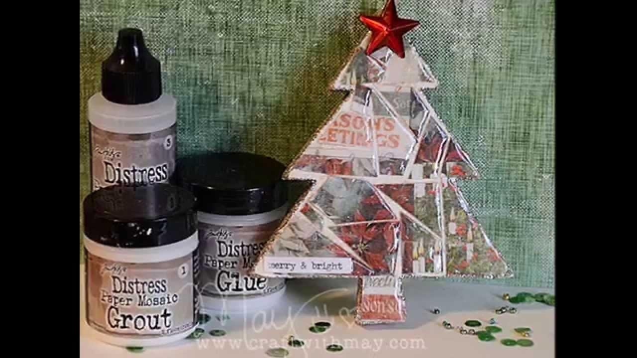 Tim Holtz Distress Paper Mosaic Kit: Christmas Ornament