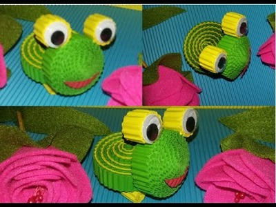 DIY Frog from corrugated paper. kokoru paper (easy and simple)