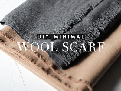 DIY Minimal Wool Scarf