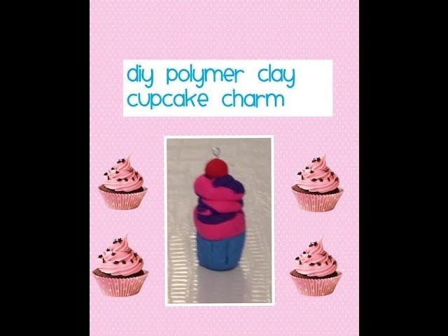 DIY Polymer Clay Cupcake Charm