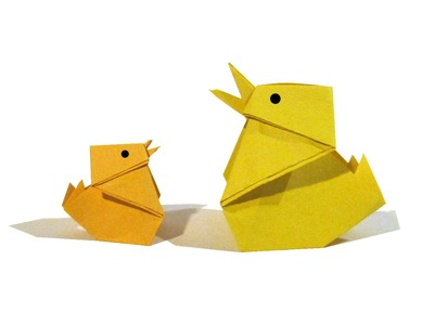 Easter Origami Chick - Easy Tutorial - How to make an Easy origami chick