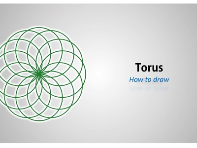 How to draw - a Torus (Vortex) - step by step tutorial (english)
