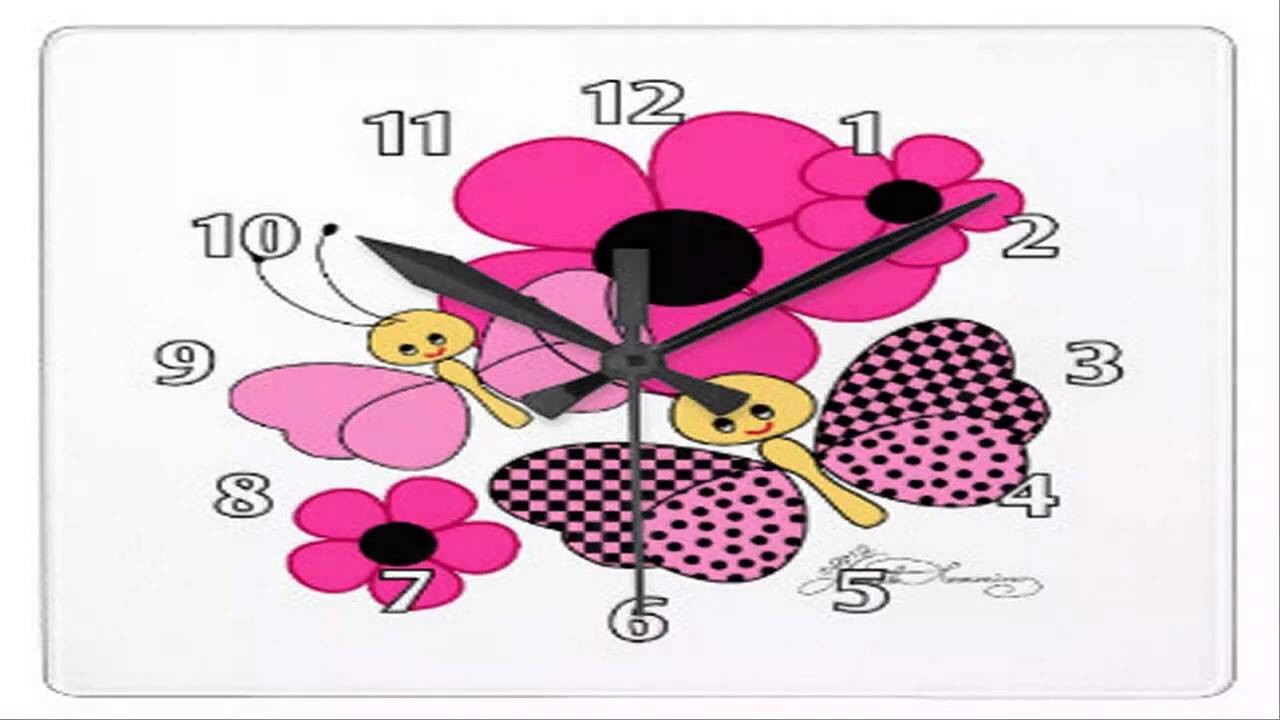How To Draw Butterfly Clock Cartoon