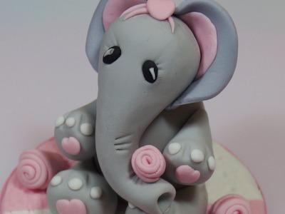 How To Make A Fondant Elephant Cake Topper - Max's Cake Studio