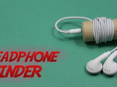 How to Make a Headphone Winder || Headphone Port