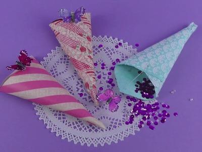 How to make wedding confetti cones - Bridal DIY