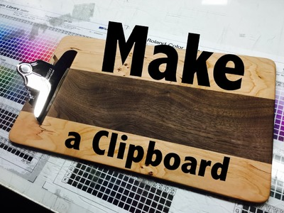 Making a Cherry and Walnut Wood Clipboard