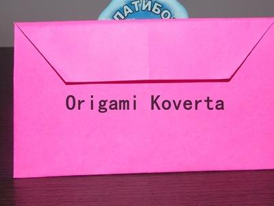 Origami: Koverta od papira - Envelope out of paper - Lako