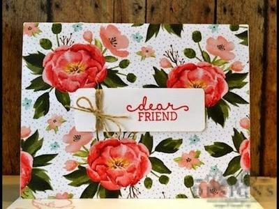 Paper Craft Crew #173 Birthday Blooms, Stampin' Up! Spring 2016