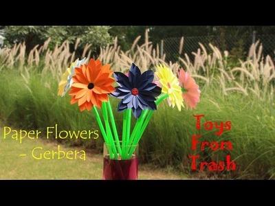 Paper Flower   Gerbera   Kannada