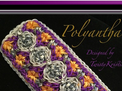 Rainbow Loom Band Polyantha Bracelet Tutorial.How To