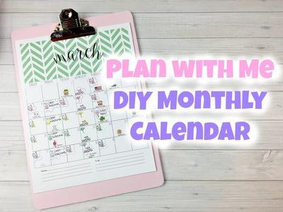 Sweet Kawaii Design - Plan With Me - DIY Monthly Calendar
