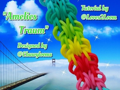 """Amelies Traum"" Hook Only (Rainbow Loom) Bracelet. How to Tutorial"