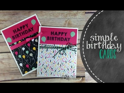 Birthday Cards Using Stampin' Up It's Your Party Designer Paper