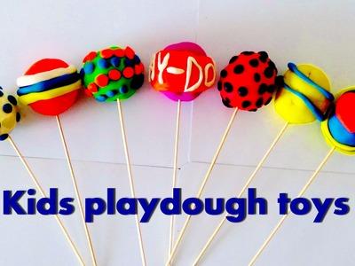 Clay Dough For Kids  Rainbow Balls - Lollipop for children song I Spongebob Christmas My Little Pony