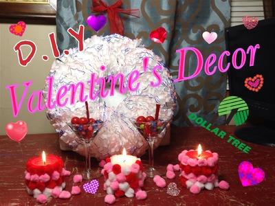 D.I.Y   Dollar Tree Valentine's Decor Challenge   Collab #FABFEB