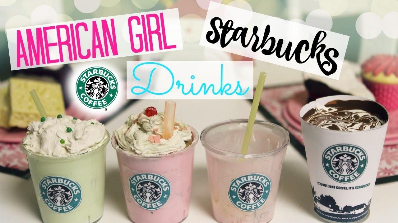DIY American Girl Starbucks Drinks!