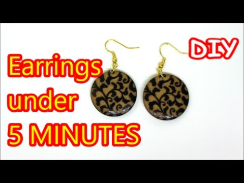 Easy DIY Crafts: Cheap Earrings Under 5 Minutes Recycled Bottles Crafts