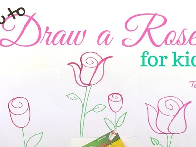 How to Draw a Rose - Drawing Lesson for Kids