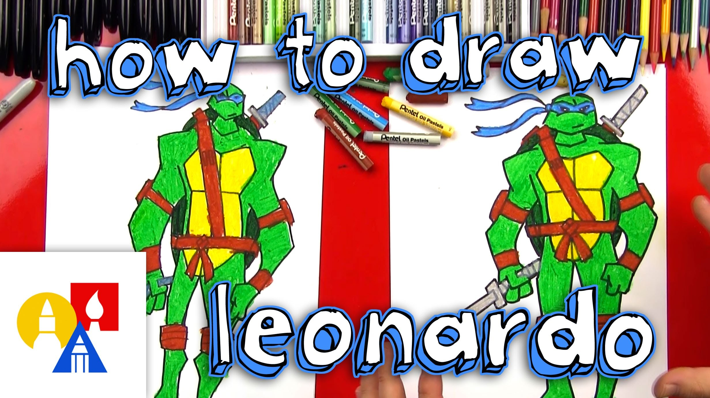How To Draw Leonardo Teenage Mutant Ninja Turtles
