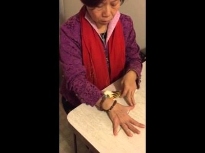 How to fold Lotus Flower Yuan Bao four at a time, with Candie