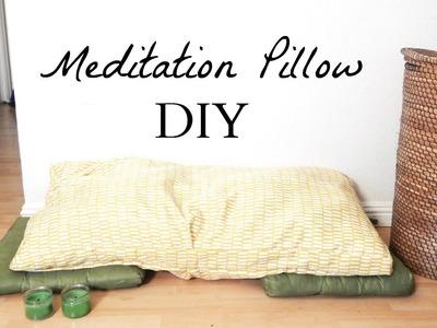 How to Make A Meditation Pillow- Easy Minimalist Home Decor DIY Idea