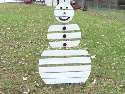 How to make a Pallet Snowman