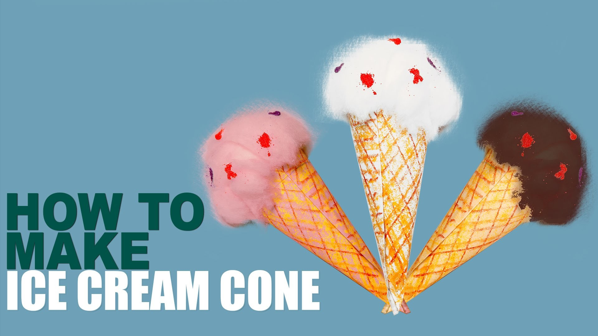 How to Make Ice Cream Cone | Learn Art and Craft | DIY Ice Cream Cone | Kids Art and Craft