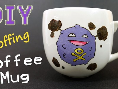 How To Paint On A Mug Permanently - Koffing Coffee Mug | CraftySandra Collab